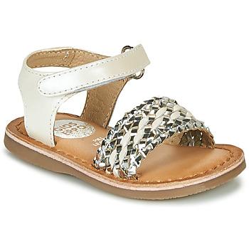 Topánky Dievčatá Sandále Gioseppo VARESE Biela / Strieborná