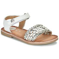 Topánky Dievčatá Sandále Gioseppo VIETRI Biela / Strieborná