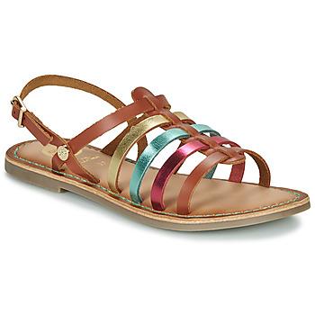 Topánky Dievčatá Sandále Gioseppo ETALLE Koňaková / Viacfarebná