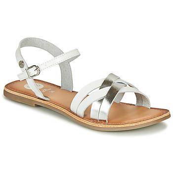 Topánky Dievčatá Sandále Gioseppo GISTEL Biela / Strieborná