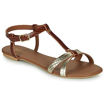 Topánky Ženy Sandále André RODHIE Ťavia hnedá