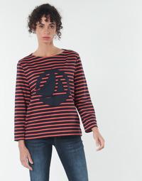Oblečenie Ženy Blúzky Petit Bateau  Červená / Námornícka modrá