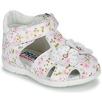 Topánky Dievčatá Sandále Primigi 5401300 Biela / Ružová