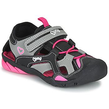 Topánky Dievčatá Športové sandále Primigi 5460011 Čierna / Ružová