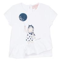 Oblečenie Dievčatá Tričká s krátkym rukávom Lili Gaufrette NALIOS Biela