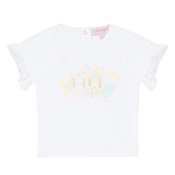 Oblečenie Dievčatá Tričká s krátkym rukávom Lili Gaufrette NALIS Biela