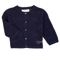 Oblečenie Dievčatá Cardigany Lili Gaufrette NANETTE Námornícka modrá