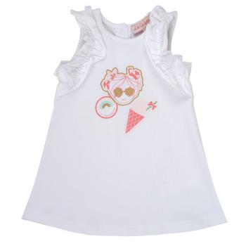 Oblečenie Dievčatá Krátke šaty Lili Gaufrette NAVETTE Biela