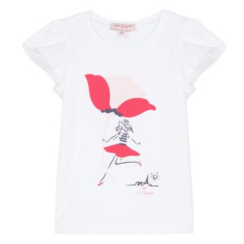 Oblečenie Dievčatá Tričká s krátkym rukávom Lili Gaufrette KATINE Biela
