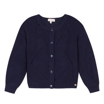 Oblečenie Dievčatá Cardigany Lili Gaufrette MADINE Námornícka modrá