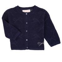 Oblečenie Dievčatá Cardigany Lili Gaufrette CETELIA Námornícka modrá