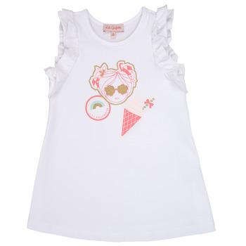 Oblečenie Dievčatá Krátke šaty Lili Gaufrette SAMI Biela