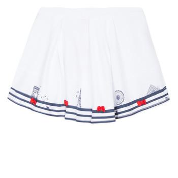 Oblečenie Dievčatá Sukňa Lili Gaufrette MAYA Biela