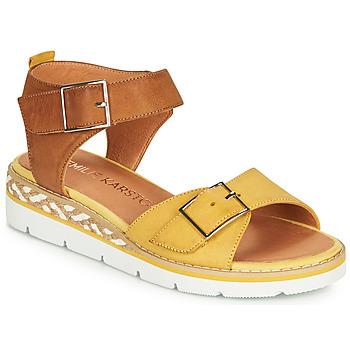 Topánky Ženy Sandále Karston KICHOU Žltá / Hnedá