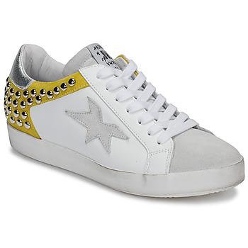 Topánky Ženy Nízke tenisky Meline GELLABELLE Biela / Žltá horčicová
