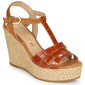 Topánky Ženy Sandále Unisa MACA Ťavia hnedá