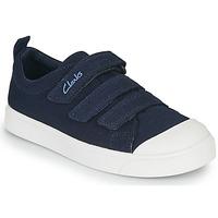 Topánky Deti Nízke tenisky Clarks CITY VIBE K Námornícka modrá