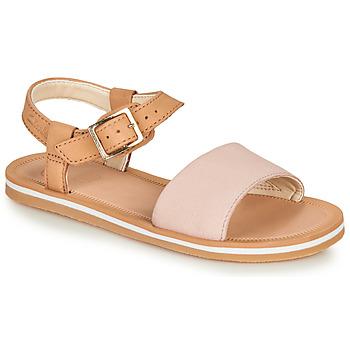Topánky Dievčatá Sandále Clarks SKYLARKHOPE K Ružová