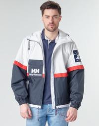 Oblečenie Muži Bundy  Helly Hansen RAIN Biela / Námornícka modrá