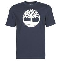 Oblečenie Muži Tričká s krátkym rukávom Timberland SS KENNEBEC RIVER BRAND TREE TEE Námornícka modrá