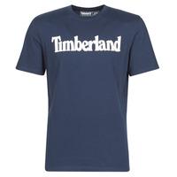 Oblečenie Muži Tričká s krátkym rukávom Timberland SS Kennebec River Brand Linear Tee Námornícka modrá