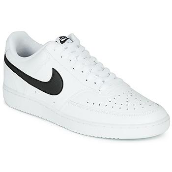 Topánky Muži Nízke tenisky Nike COURT VISION LOW Biela / Čierna