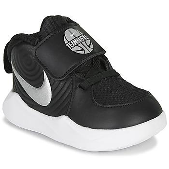 Topánky Chlapci Basketbalová obuv Nike TEAM HUSTLE D 9 TD Čierna / Strieborná