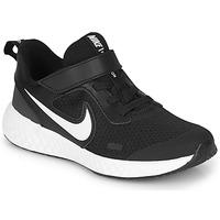 Topánky Deti Univerzálna športová obuv Nike REVOLUTION 5 PS Čierna / Biela