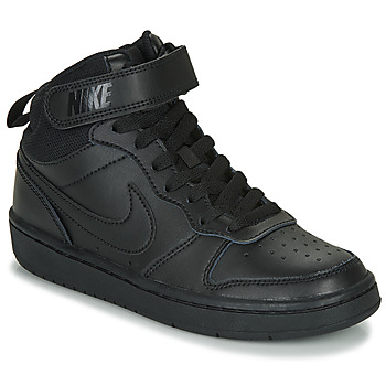 Topánky Deti Členkové tenisky Nike COURT BOROUGH MID 2 GS Čierna