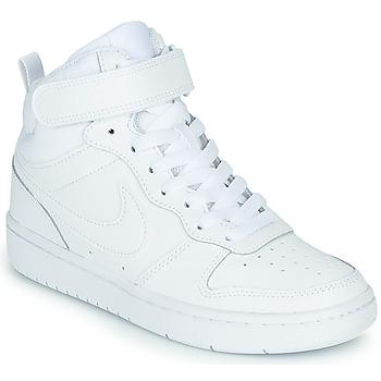 Topánky Deti Členkové tenisky Nike COURT BOROUGH MID 2 GS Biela