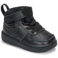Topánky Deti Členkové tenisky Nike COURT BOROUGH MID 2 TD Čierna