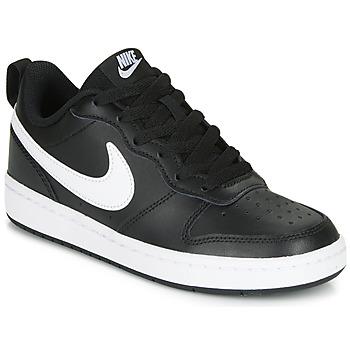 Topánky Deti Nízke tenisky Nike COURT BOROUGH LOW 2 GS Čierna / Biela