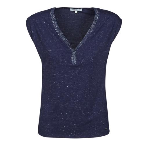 Oblečenie Ženy Tričká s krátkym rukávom Morgan DMAYA Námornícka modrá
