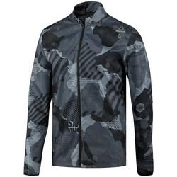 Oblečenie Muži Saká a blejzre Reebok Sport One Series Running Reflect Čierna, Sivá
