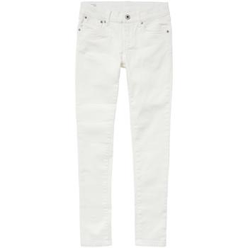 Oblečenie Dievčatá Džínsy Slim Pepe jeans PIXLETTE Biela