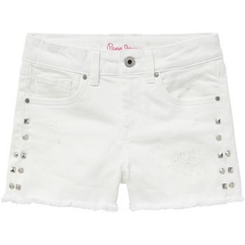 Oblečenie Dievčatá Šortky a bermudy Pepe jeans ELSY Biela