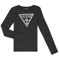 Oblečenie Dievčatá Tričká s dlhým rukávom Guess GARICE Čierna