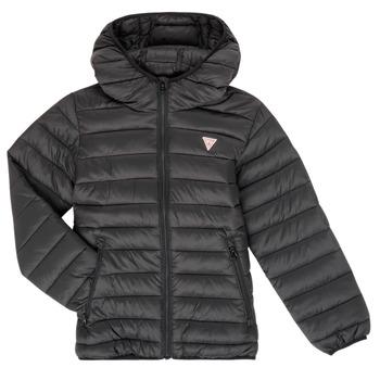 Oblečenie Deti Vyteplené bundy Guess HENRIK Čierna