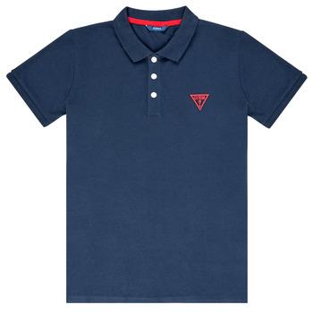 Oblečenie Chlapci Polokošele s krátkym rukávom Guess HOSNI Námornícka modrá