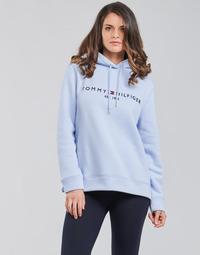 Oblečenie Ženy Mikiny Tommy Hilfiger TH ESS HILFIGER HOODIE LS Modrá / Modrá