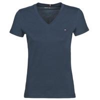 Oblečenie Ženy Tričká s krátkym rukávom Tommy Hilfiger HERITAGE V-NECK TEE Námornícka modrá