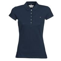 Oblečenie Ženy Polokošele s krátkym rukávom Tommy Hilfiger HERITAGE SS SLIM POLO Námornícka modrá