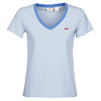 Oblečenie Ženy Tričká s krátkym rukávom Levi's PERFECT VNECK Biela / Modrá