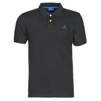 Oblečenie Muži Polokošele s krátkym rukávom Gant GANT CONTRAST COLLAR PIQUE POLO Čierna / Modrá