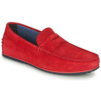 Topánky Muži Mokasíny André SKY Červená