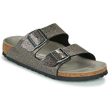 Topánky Ženy Šľapky Birkenstock ARIZONA Čierna / Strieborná