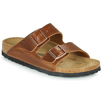 Topánky Šľapky Birkenstock ARIZONA LEATHER Hnedá