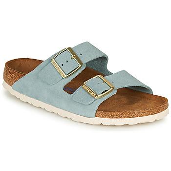 Topánky Ženy Šľapky Birkenstock ARIZONA SFB LEATHER Modrá