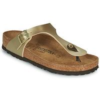 Topánky Ženy Žabky Birkenstock GIZEH Zlatá / Zlatá