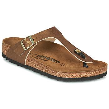 Topánky Ženy Žabky Birkenstock GIZEH Zlatá / Leopard
